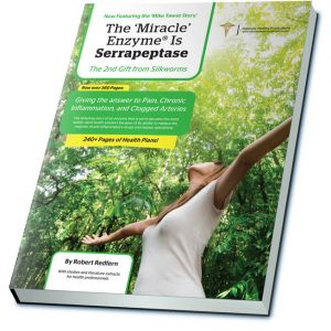 'The Miracle Enzyme is Serrapeptase' book by renowned health expert and nutritionalist Robert Redfern