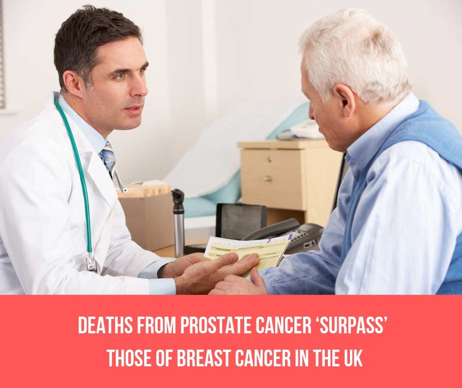 Deaths From Prostate Cancer 'Surpass' Those Of Breast Cancer in The UK