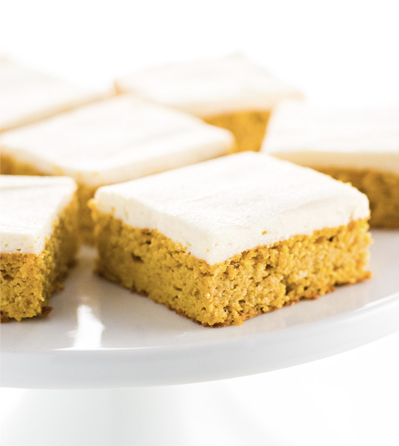 Low Carb Healthy Pumpkin Bars with Dairy-Free Cream Cheese Frosting