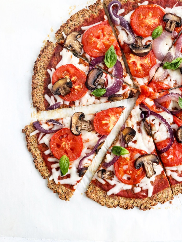 Vegan Cauliflower Pizza Crust